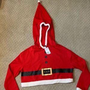 Divided Santa Hooded Top